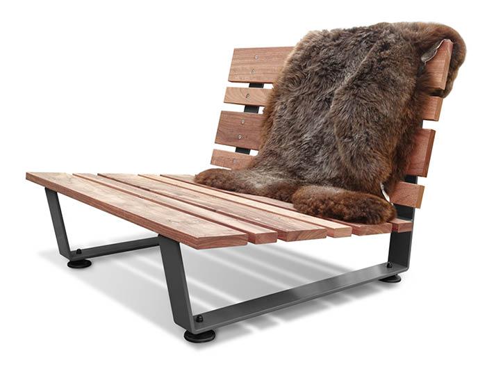 Ginger Grey Loungestoel de Stoor Buitenleven
